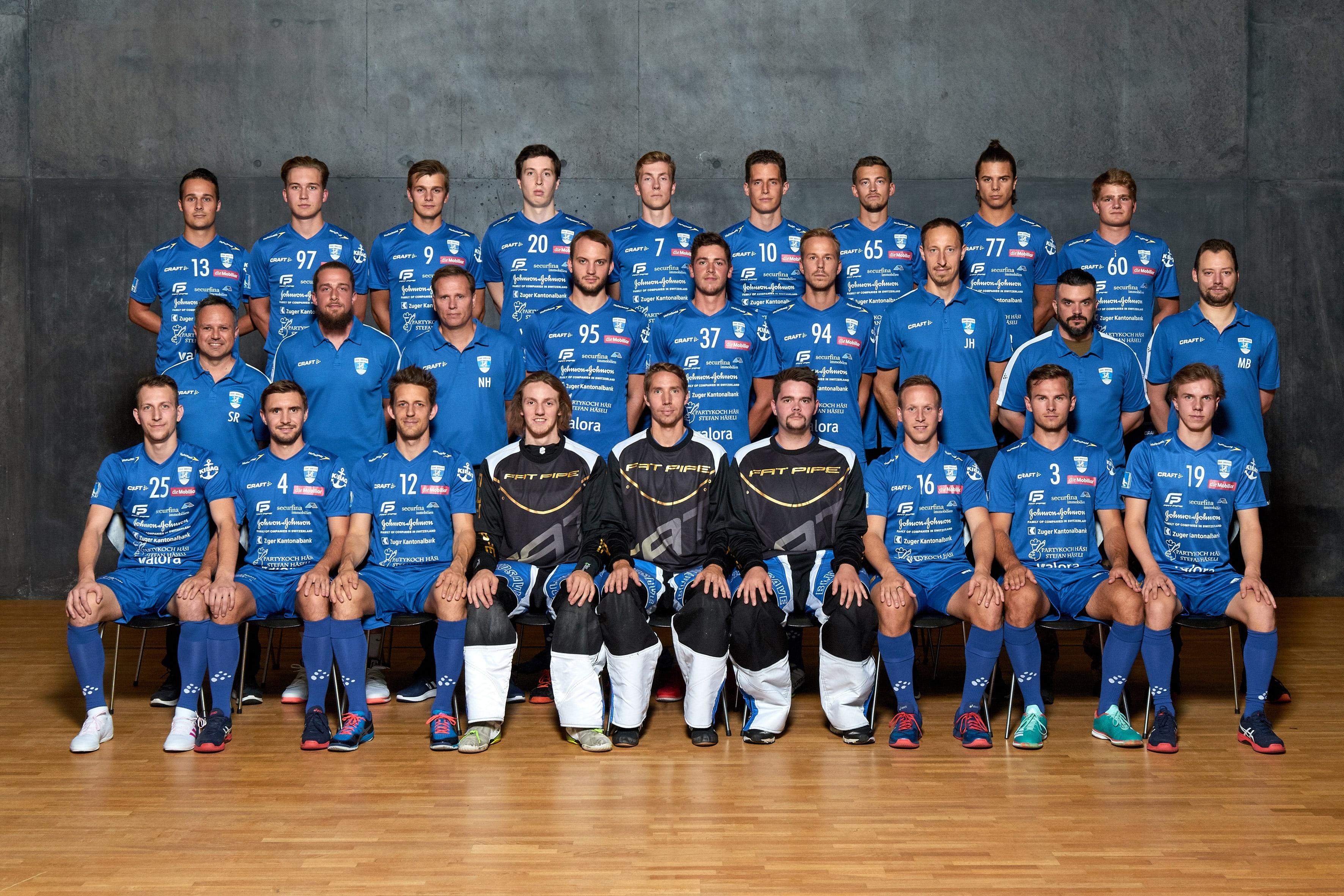 Zug-United-Mannschaftsfoto-Maenner-NLA-Saison-2019-2020